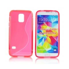 Puzdro gumené pre Samsung Galaxy S5 mini cervene