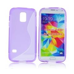 Puzdro gumené pre Samsung Galaxy S5 mini fialove