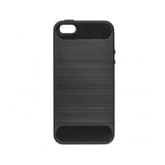 Forcell CARBON - puzdro pre  Apple iPhone 5/5S/SE black
