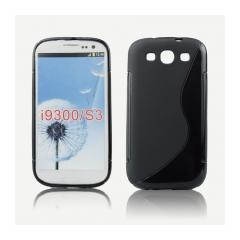 Puzdro gumené pre Samsung i9300 Galaxy S3 cierne.