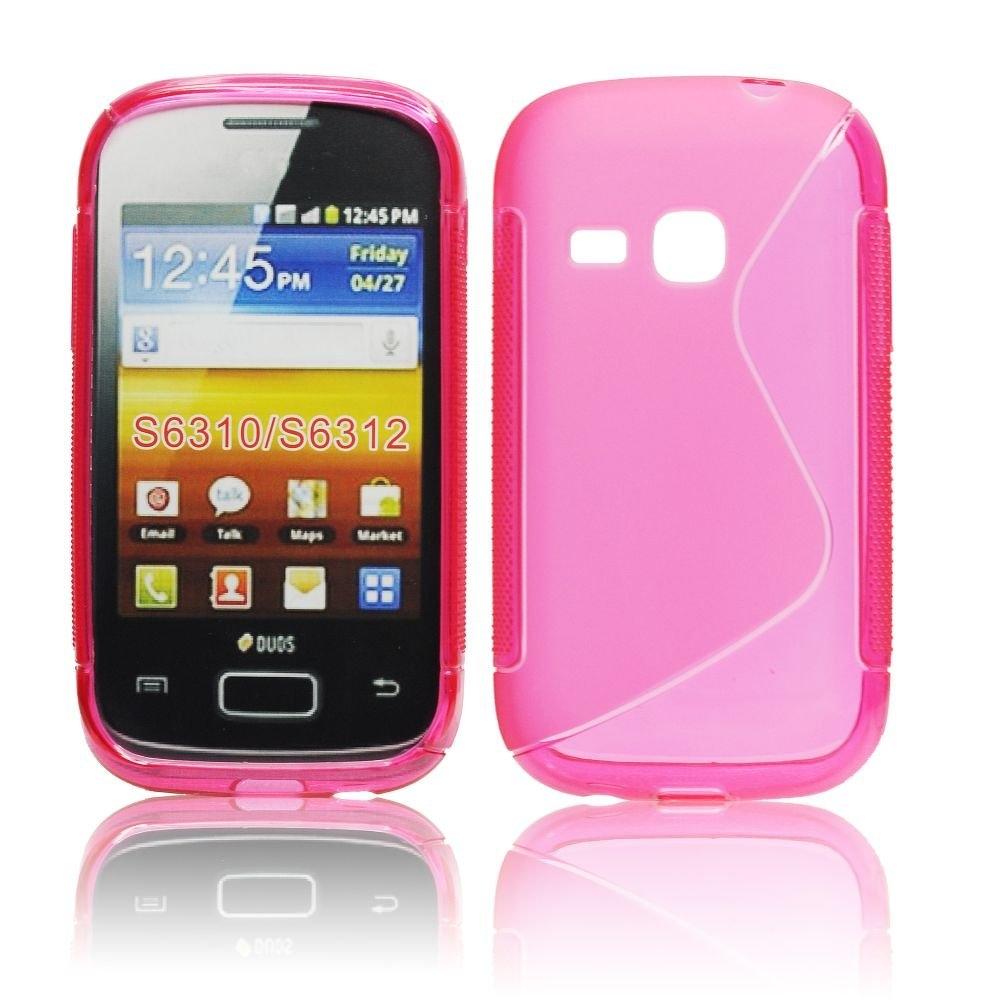Puzdro Gumen Pre Samsung S6310 Galaxy Young Ruzove New