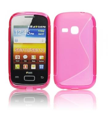 Puzdro gumené pre Samsung S6310 Galaxy young ruzove