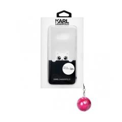 Original kryt (obal) KARL LAGERFELD KLHCS8LTRGPABPI Samsung S8 Plus (G955) transparent  pink