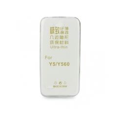 Silikónový 0,3mm zadný obal pre Huawei Y5 2017/ Y6 2017 transparent