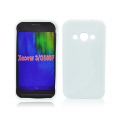 Puzdro gumené S-CASE samsung G388 Galaxy Xcover 3 biele