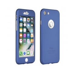 360 Full Body obal + sklo pre Apple iPhone X blue