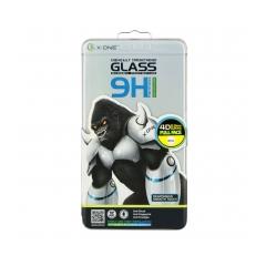 Temperované ochranné sklo X-ONE pre Samsung Galaxy A8 2018 4D  Full Face white tempered glass 9H