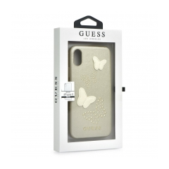 Original kryt (obal) GUESS GUHCPXPBUBE iPhone X beige