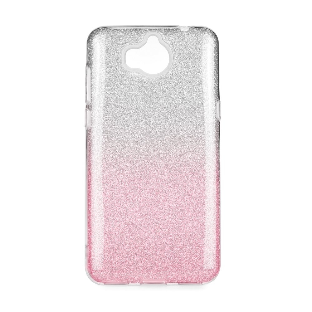 Forcell SHINING - puzdro pre Huawei Y7 2018 clear pink  722556f6b2f