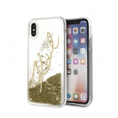 Original kryt (obal) KARL LAGERFELD KLHCPXSGGO iPhone X/Xs Liquid Gold