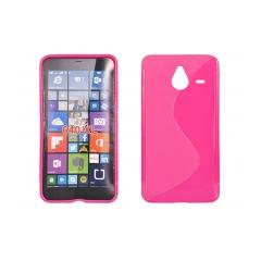 Puzdro gumené S-CASE Microsoft LUMIA 640XL ružové