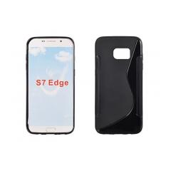 Puzdro gumené S-CASE Samsung G935 Galaxy S7 Edge čierny