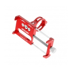 Bike holder G85 red for mobile phone Metal