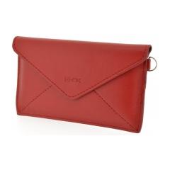 4-OK MAIL vsuvka červená velkosť T7  (peňaženka/kabelka)