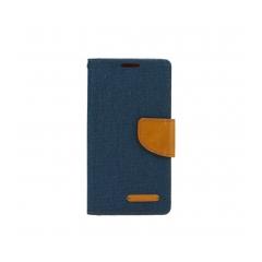 Canvas Book case for Samsung A71 navy blue