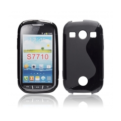 Back Case S-line - Samsung Galaxy Xcover 2 (S7710)black