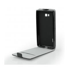 Puzdro flip flexi slim Samsung E700 Galaxy E7 čierne