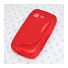 Puzdro Samsung gumené S5310 Pocket Neo  červená