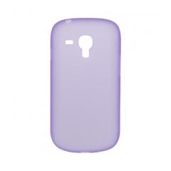 Puzdro tvrdé Samsung i8190 Galaxy S3 Mini  fialová priehľadná.