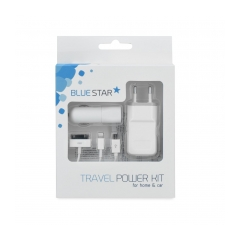 4in 1 set for iPhone 3G/4/5/Micro USB 1A NEW BLUE STAR