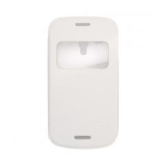 Puzdro knižkové flip Samsung i8190 Galaxy S3 mini  biela