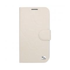 Puzdro knižkové flip Samsung i9500 Galaxy S4  krémová