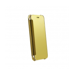 CLEAR Flip Wallet Case Samsung Galaxy A3 2016 gold