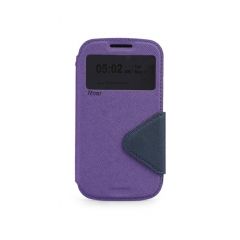 Roar Fancy Diary - puzdro pre Samsung Galaxy Trend (S7560)  purple-navy blue